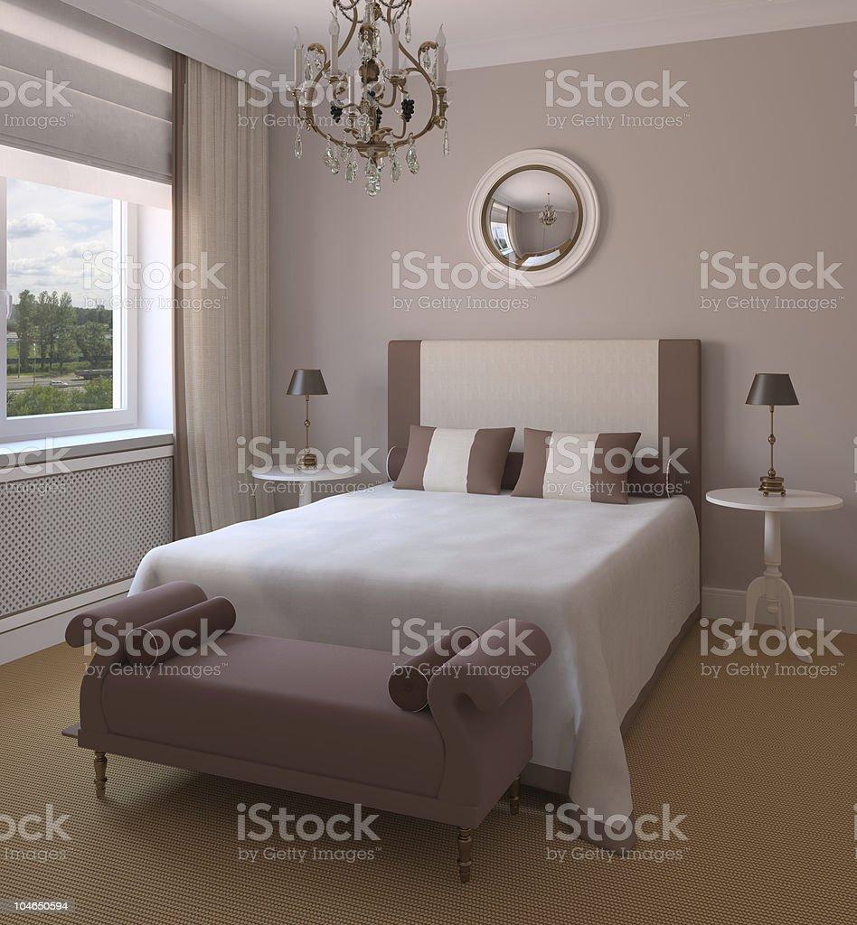 Interior of modern bedroom. royalty-free stock photo