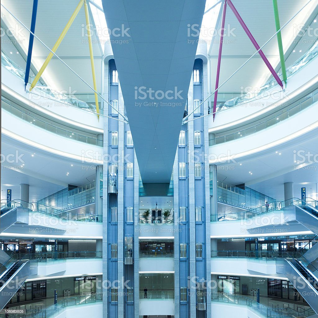 interior of modern building royalty-free stock photo