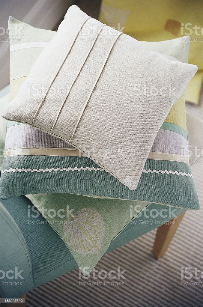 Interior of modern chair with cushions. royalty-free stock photo