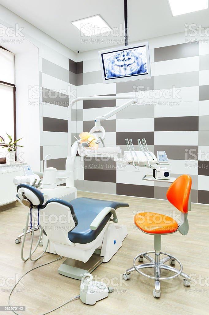 Interior of modern dental office. stock photo