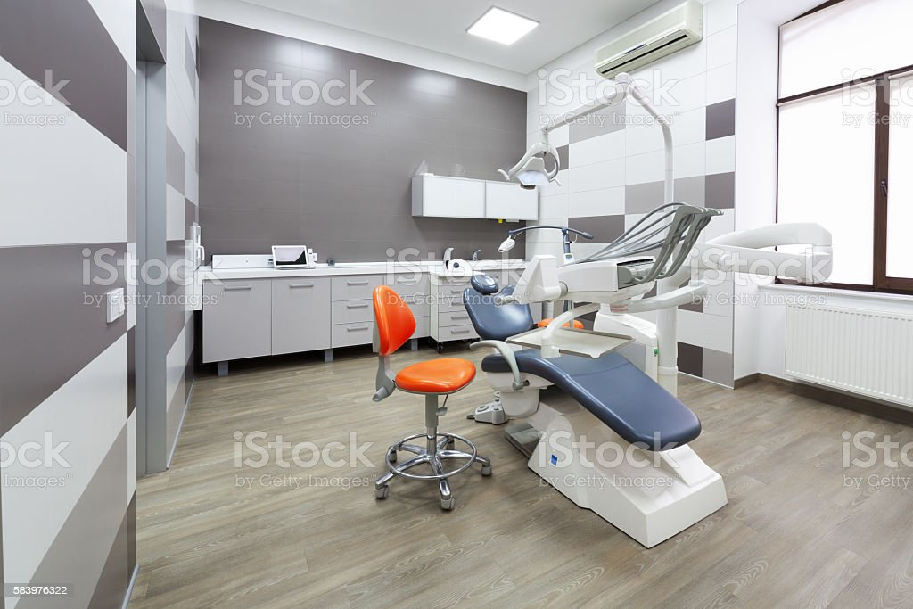Interior of modern dental office. stock photo