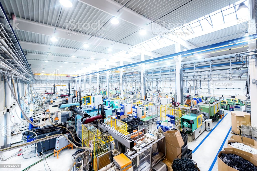 Interior of modern factory stock photo
