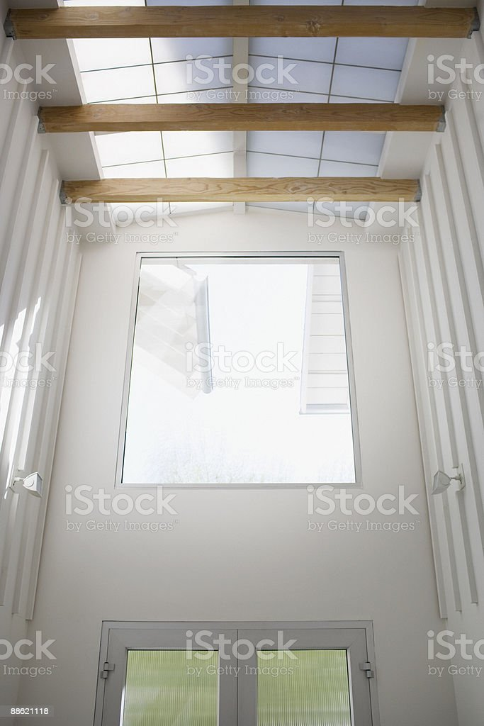 Interior of modern house, entrance, skylight royalty-free stock photo