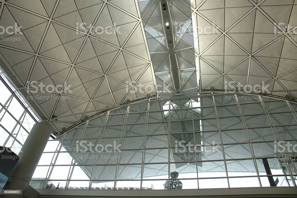 Interior of modern international airport royalty-free stock photo