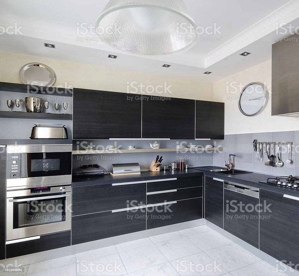 Interior of modern kitchen royalty-free stock photo