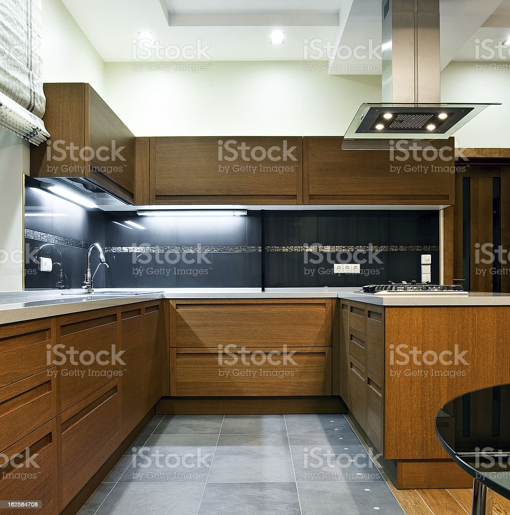 Interior of modern kitchen royalty-free stock photo