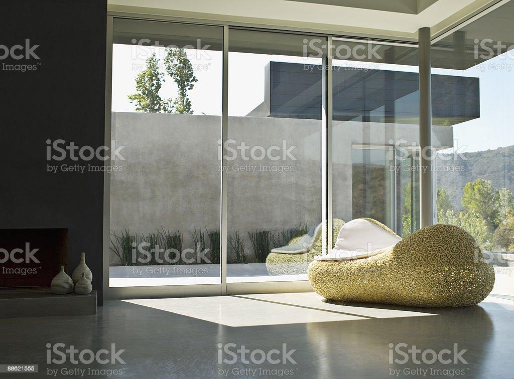 Interior of modern living room stock photo