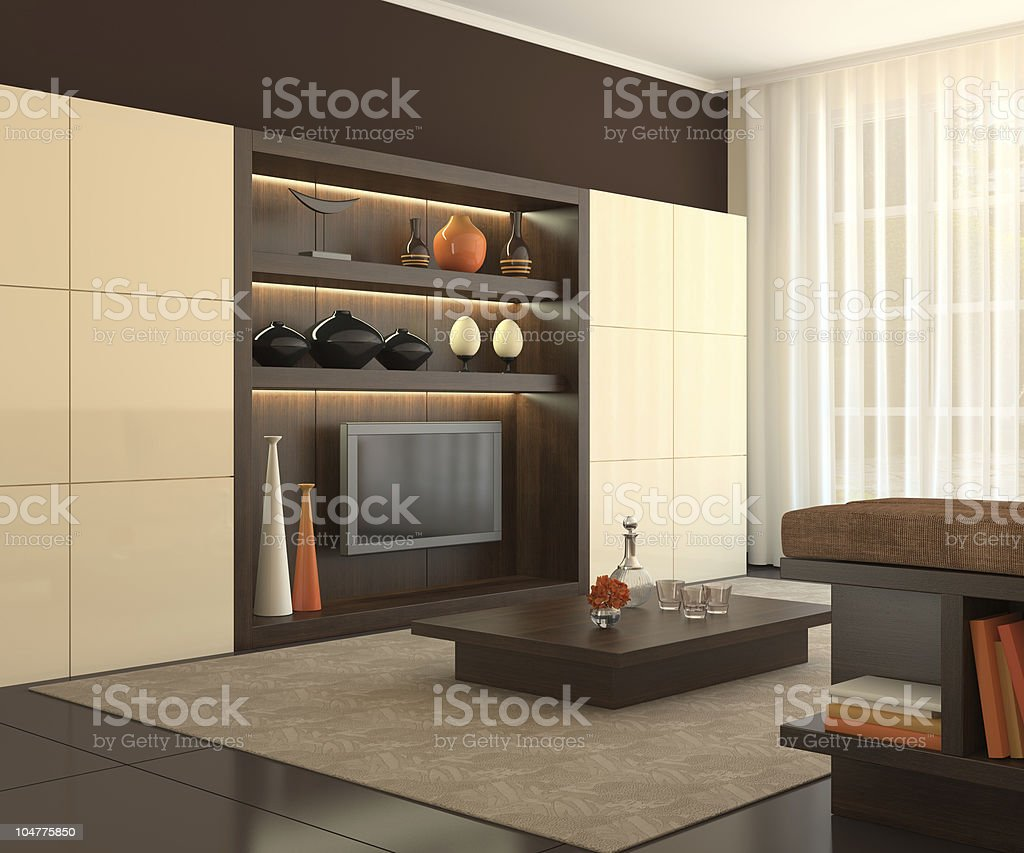 Interior of modern living-room. royalty-free stock photo