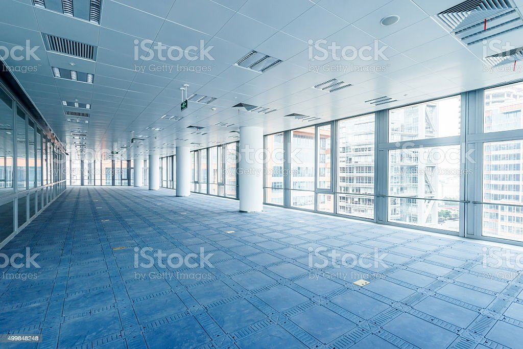 interior of modern office building stock photo