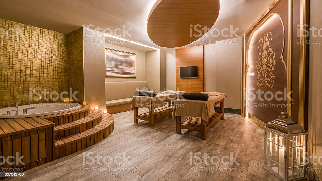 Interior of modern spas stock photo