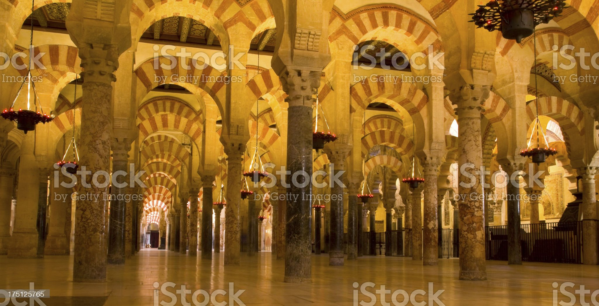 Interior of Mosque,  Cordoba,Andalusia,  Spain royalty-free stock photo