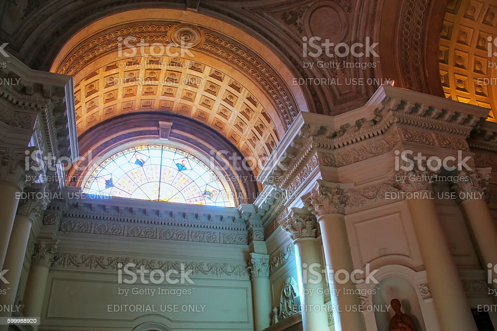 Interior of National Pantheon of the Heroes in Asuncion, Paragua stock photo