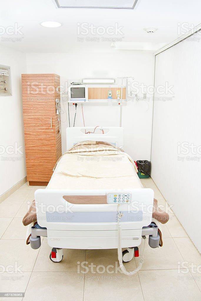 interior of new empty hospital room. stock photo