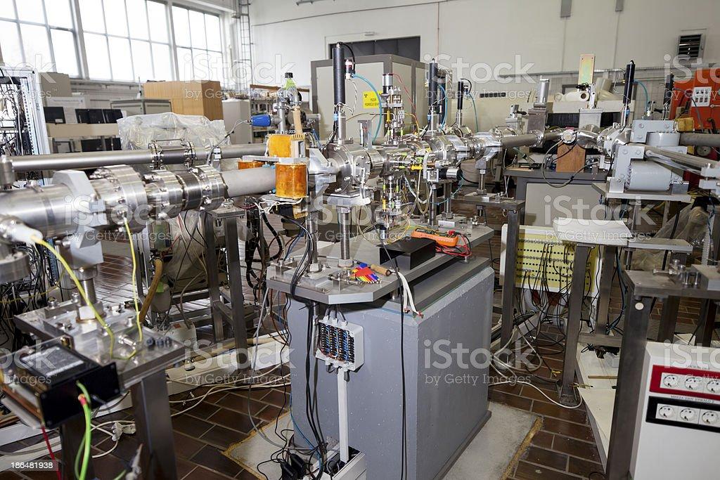 Interior of nuclear laboratory stock photo
