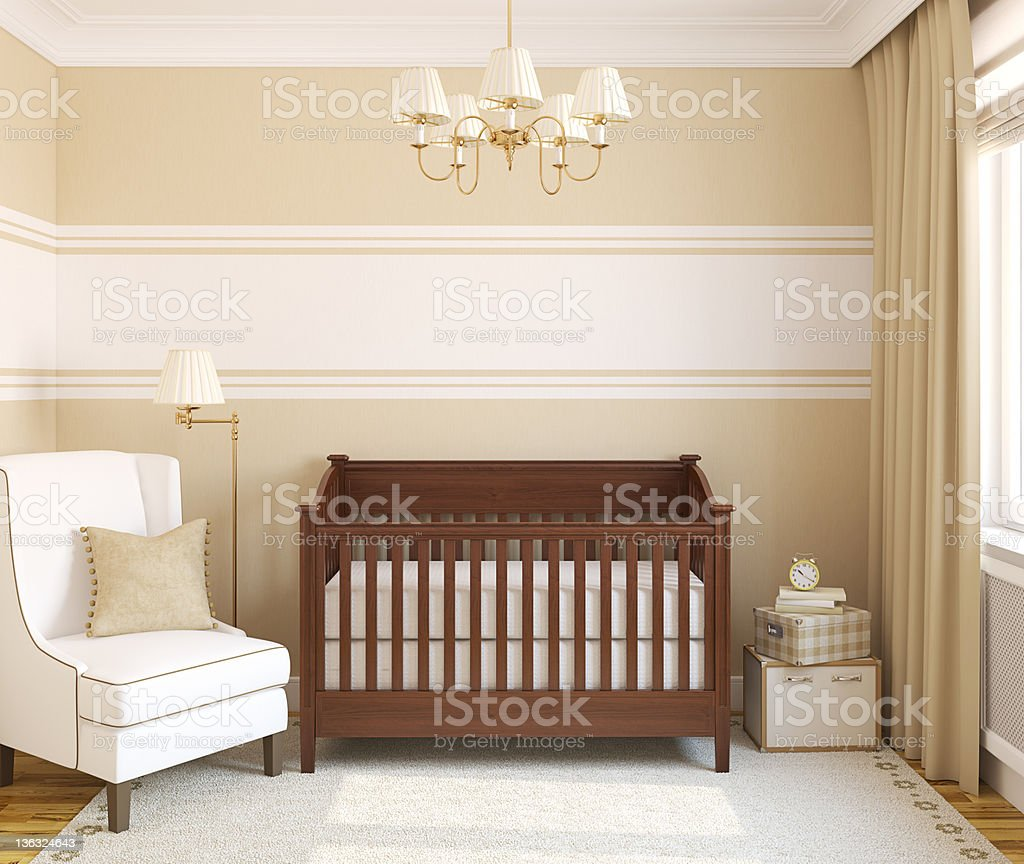 Interior of nursery. royalty-free stock photo