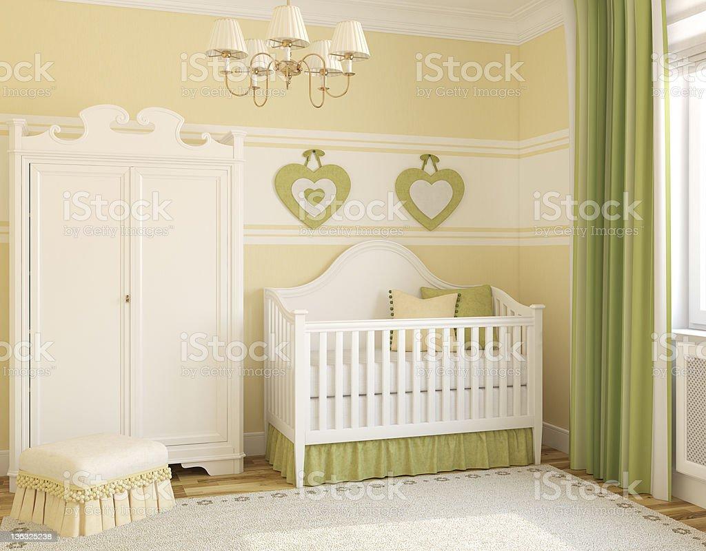 Interior of nursery. royalty-free stock photo