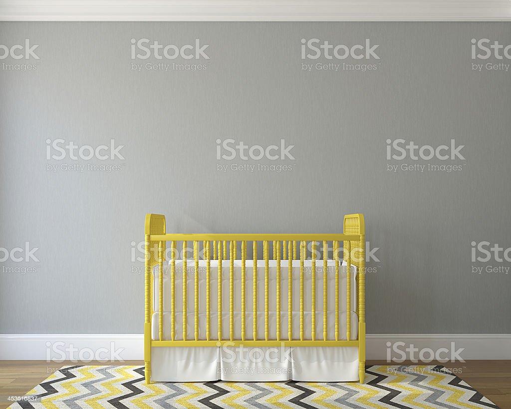 Interior of nursery. stock photo