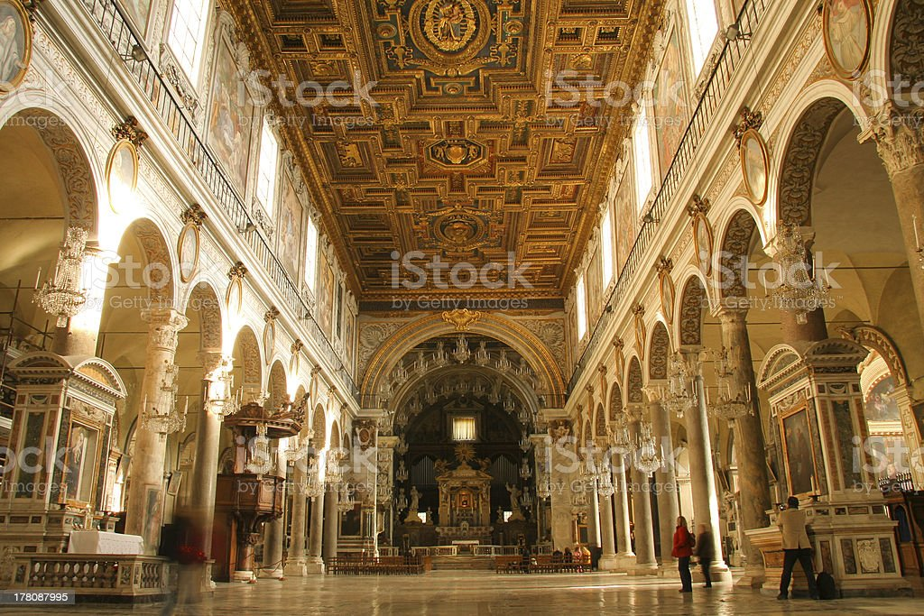 Interior of old church royalty-free stock photo
