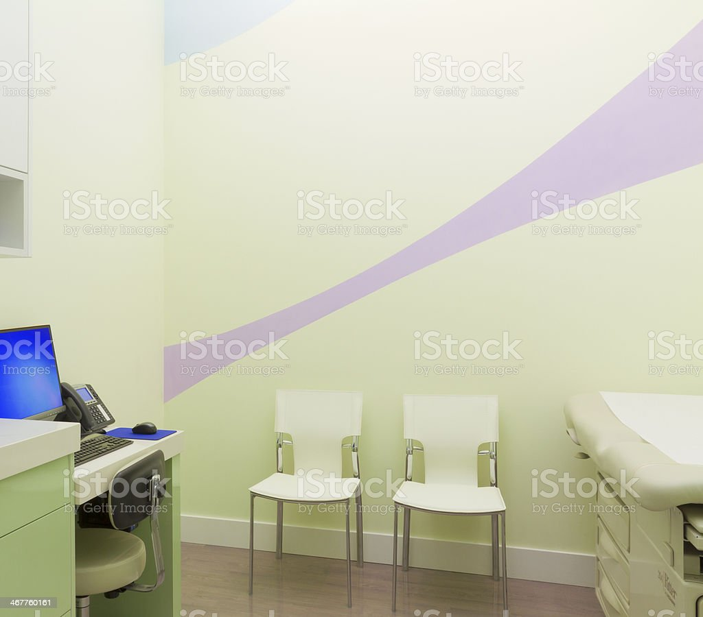 Interior of patient room at doctor's office stock photo