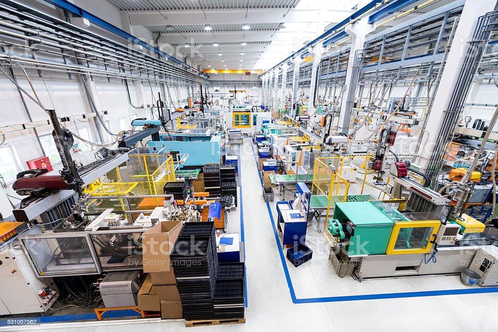 Interior of plastic plant stock photo