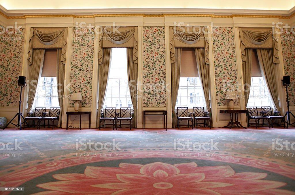 Interior of posh georgian house stock photo