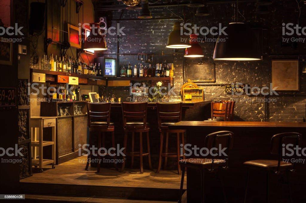 Interior of pub. stock photo