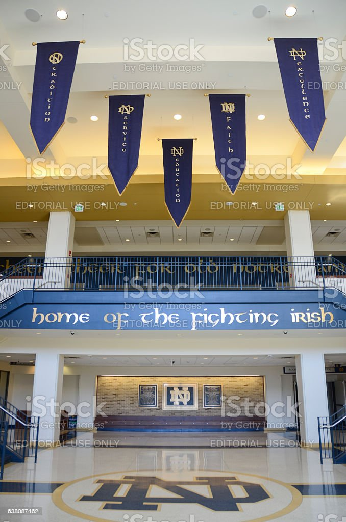 Interior of Purcell Pavilion at University of Notre Dame stock photo