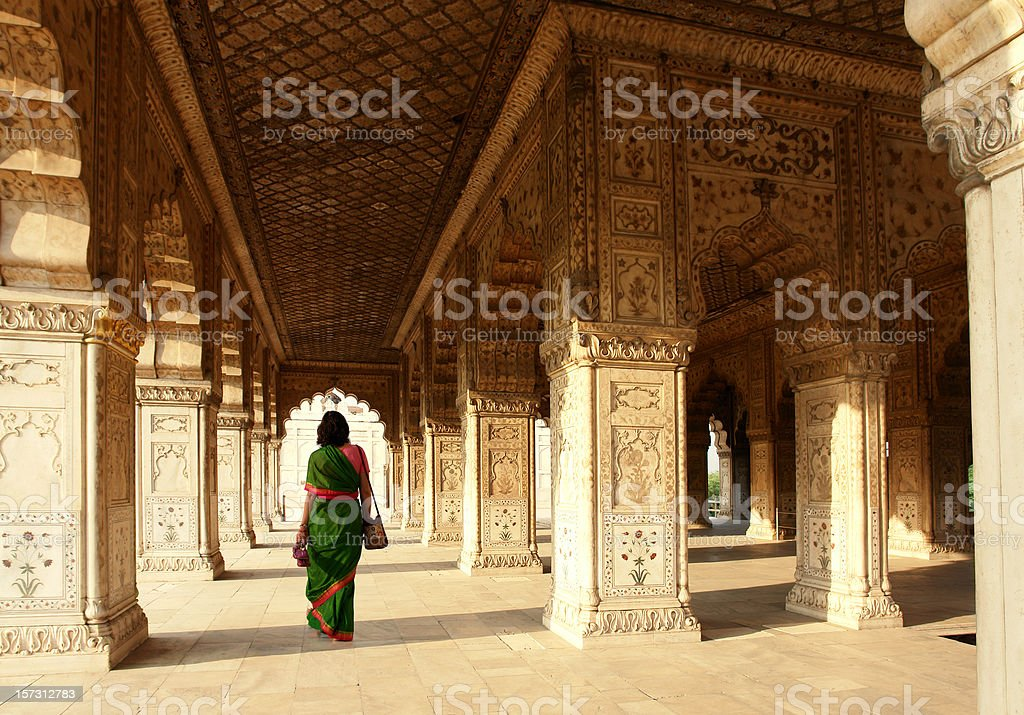 Interior of Red Fort, Delhi, India stock photo