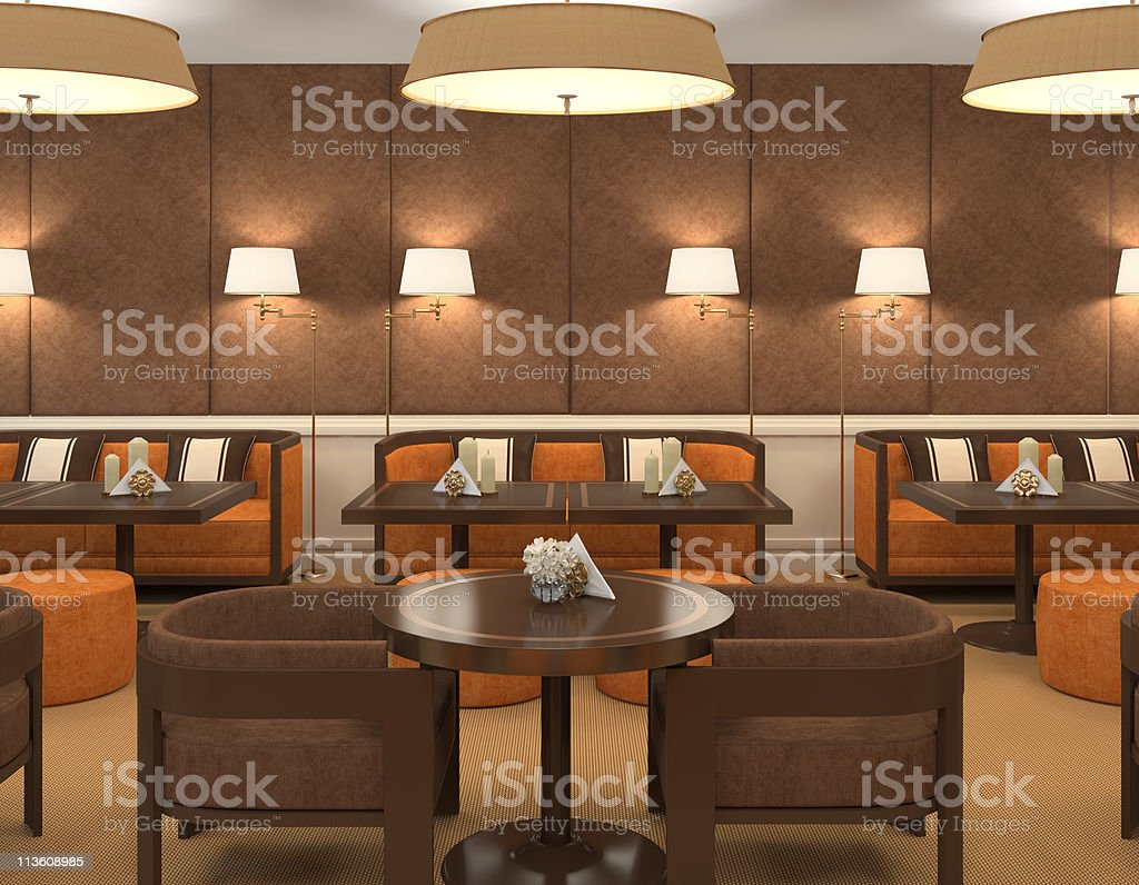 Interior of restaurant. royalty-free stock photo