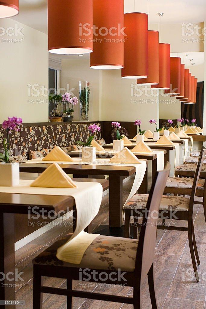 Interior of restaurant royalty-free stock photo