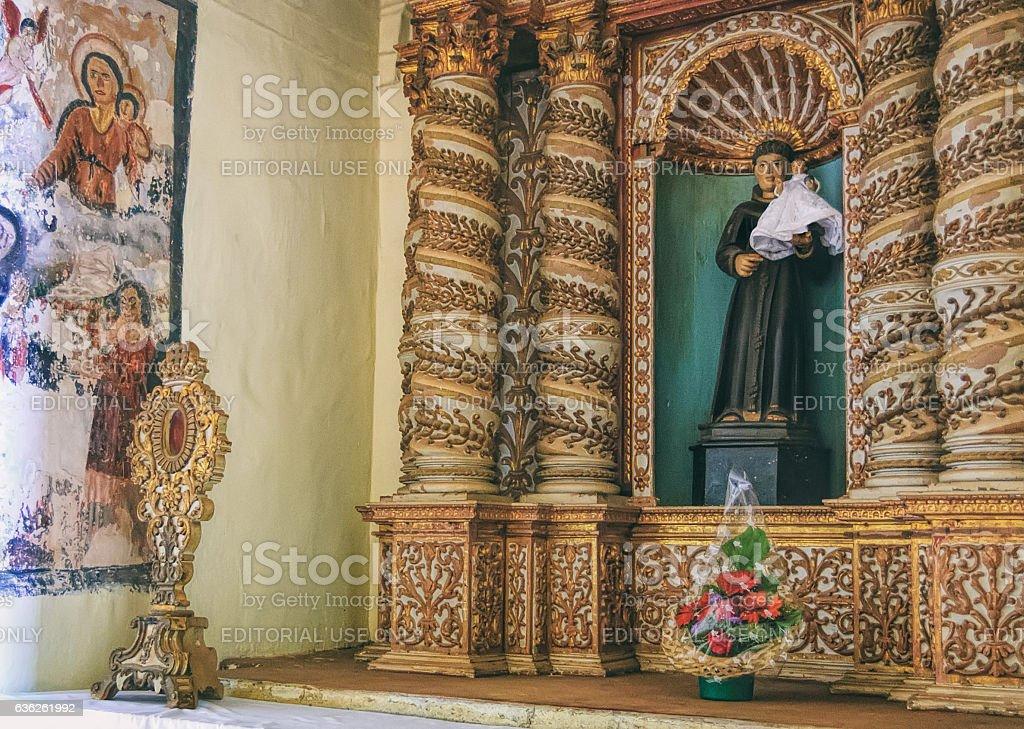 Interior of Roman Catholic church in Old Goa stock photo