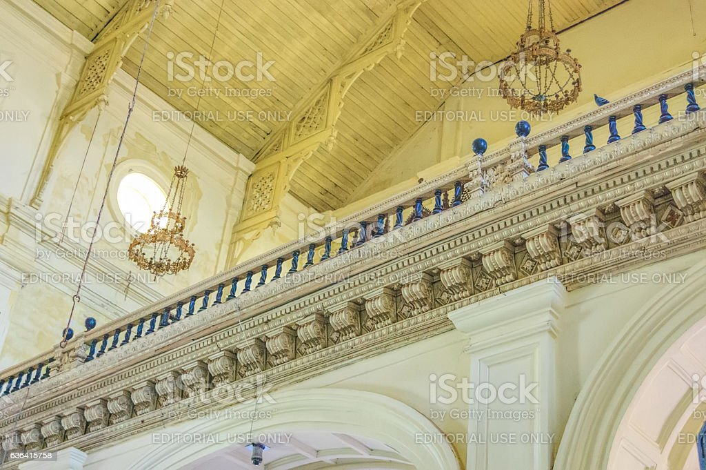 Interior of Roman Catholic church in Old Goa stock photo