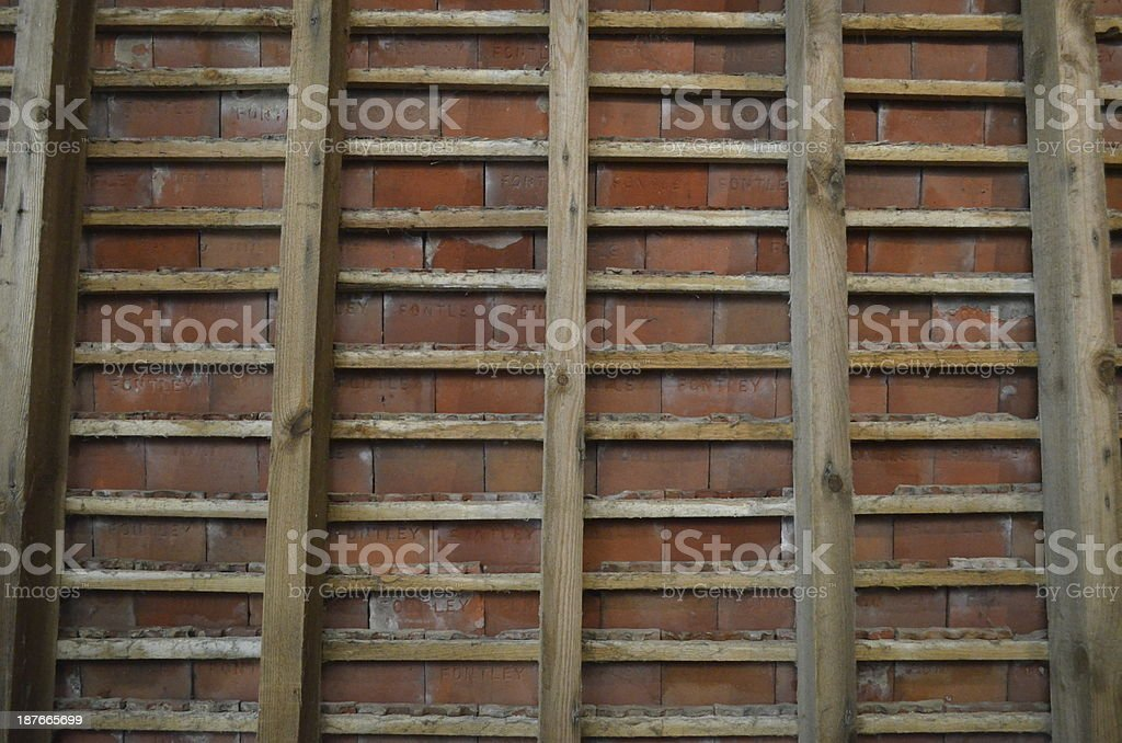 Interior of roof. stock photo