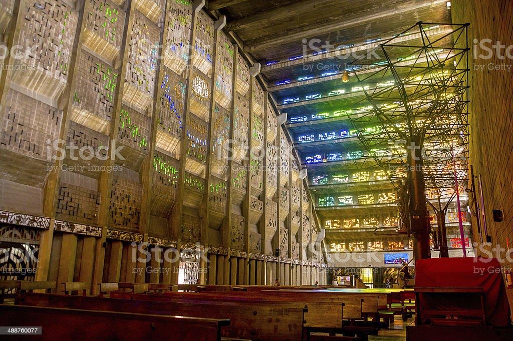 interior of Rosario church in San Salvador royalty-free stock photo