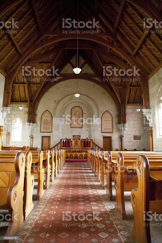 Interior of Ross Uniting Church royalty-free stock photo