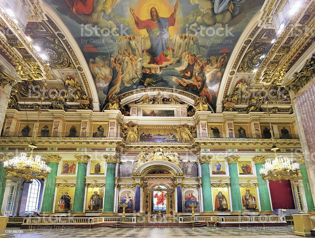 ST. PETERSBURG, RUSSIA FEDERATION - JUNE 29:Interior of Saint Is stock photo