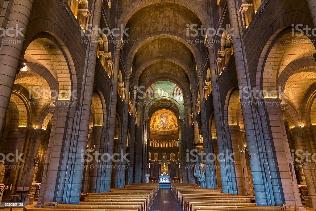 Interior of Saint Nicholas Cathedral in Monaco stock photo