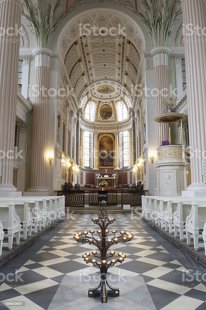Interior of Saint Nicholas Church, Leipzig, Germany stock photo