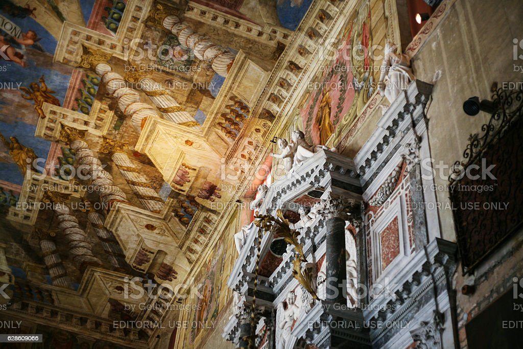 interior of Sant'Alvise church in Venice stock photo