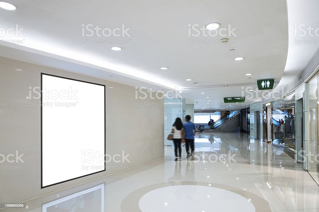 interior of shop mall stock photo