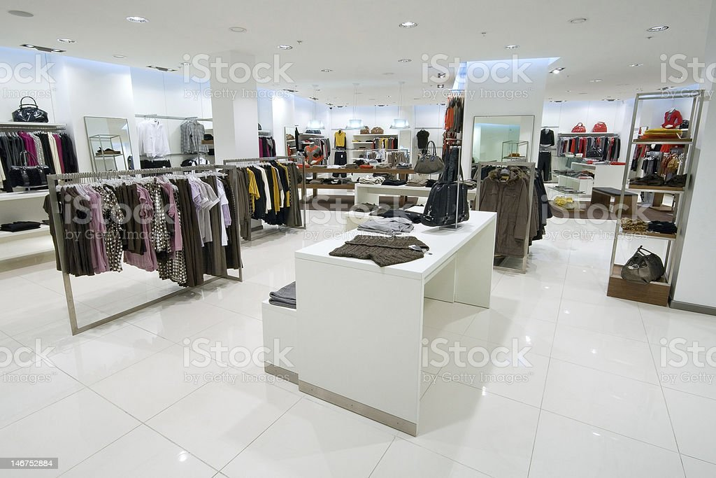 Interior of shopping mall royalty-free stock photo