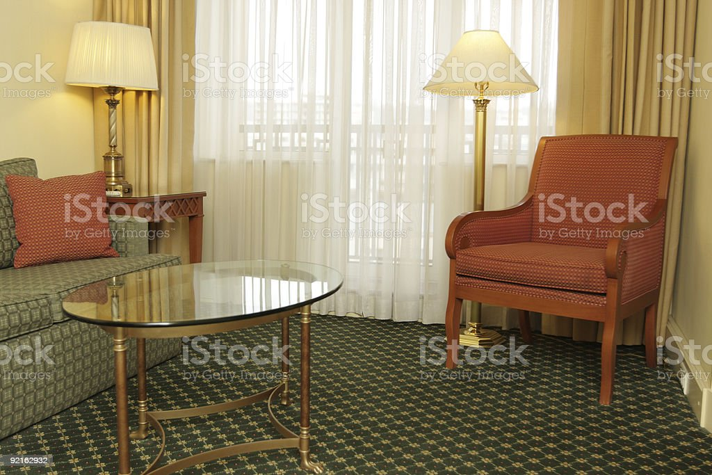 Interior of sitting-room stock photo