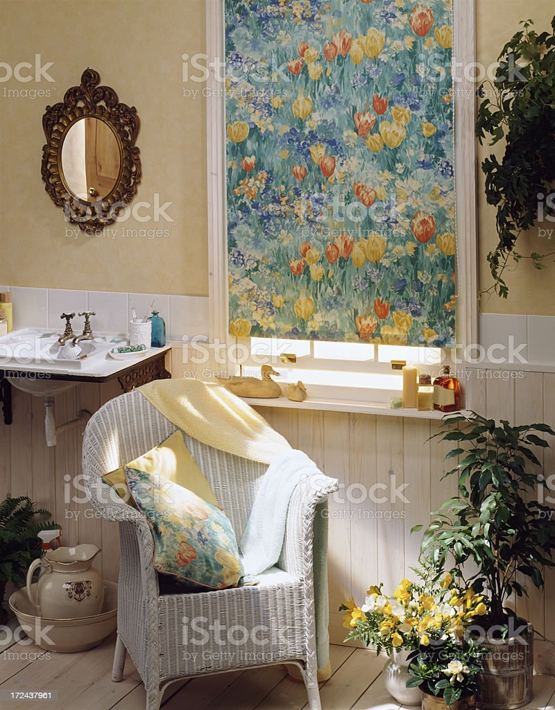 Interior of small cottage bathroom royalty-free stock photo
