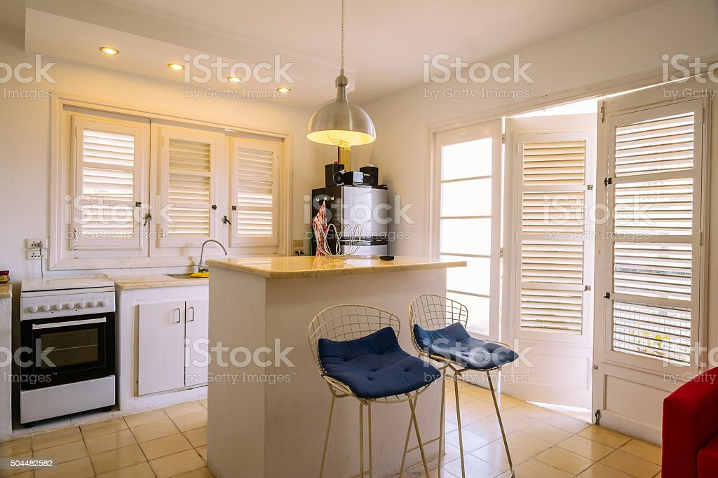 Interior of small Havana apartment stock photo