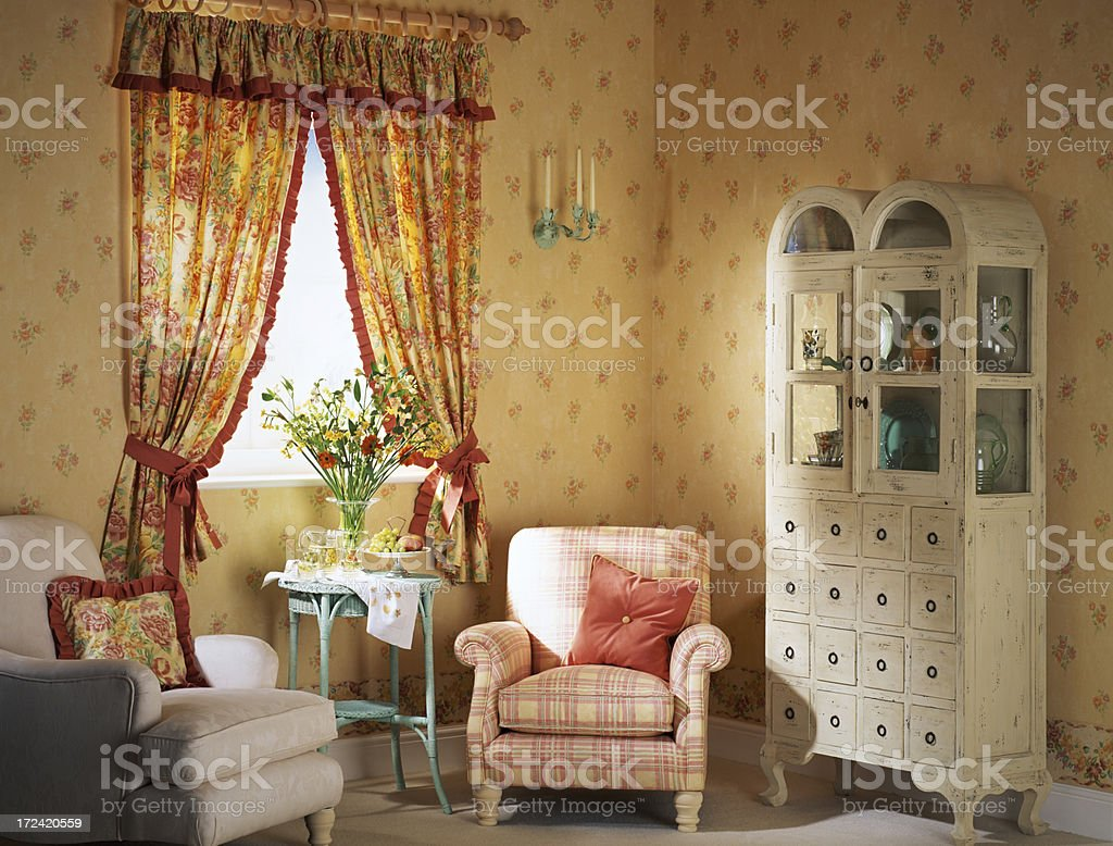 Interior of small living room stock photo
