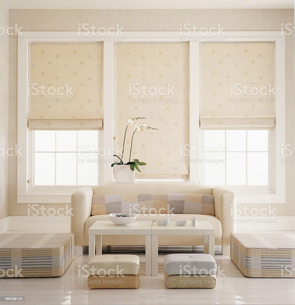 Interior of sofa stock photo