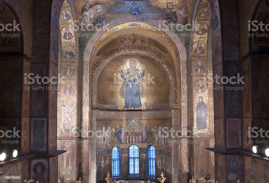 Interior  of Sofia Cathedral in Kiev royalty-free stock photo