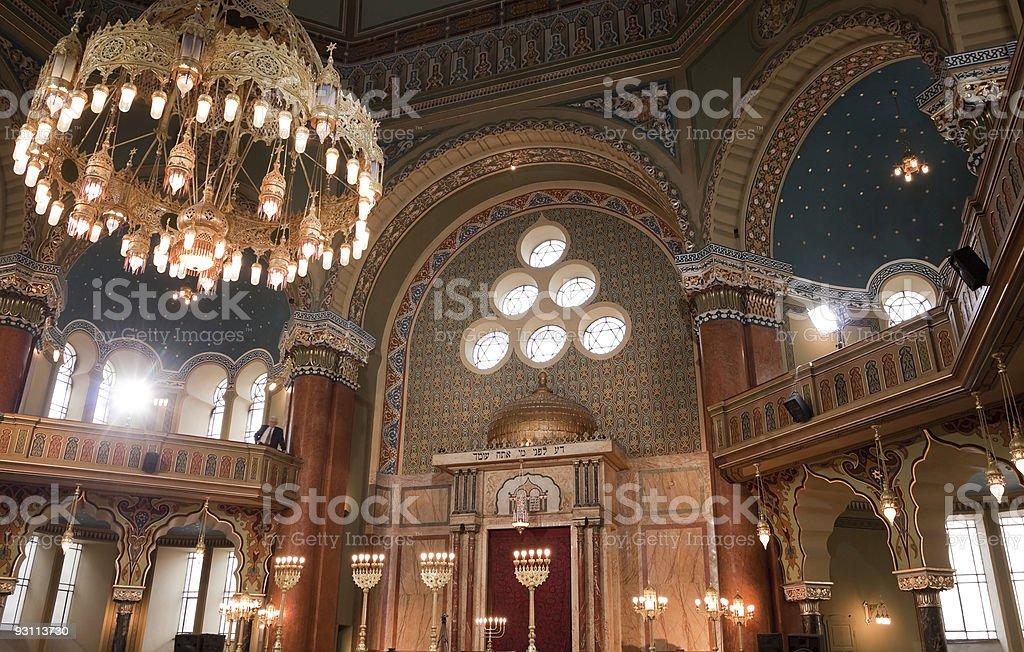 interior of Sofia synagogue royalty-free stock photo
