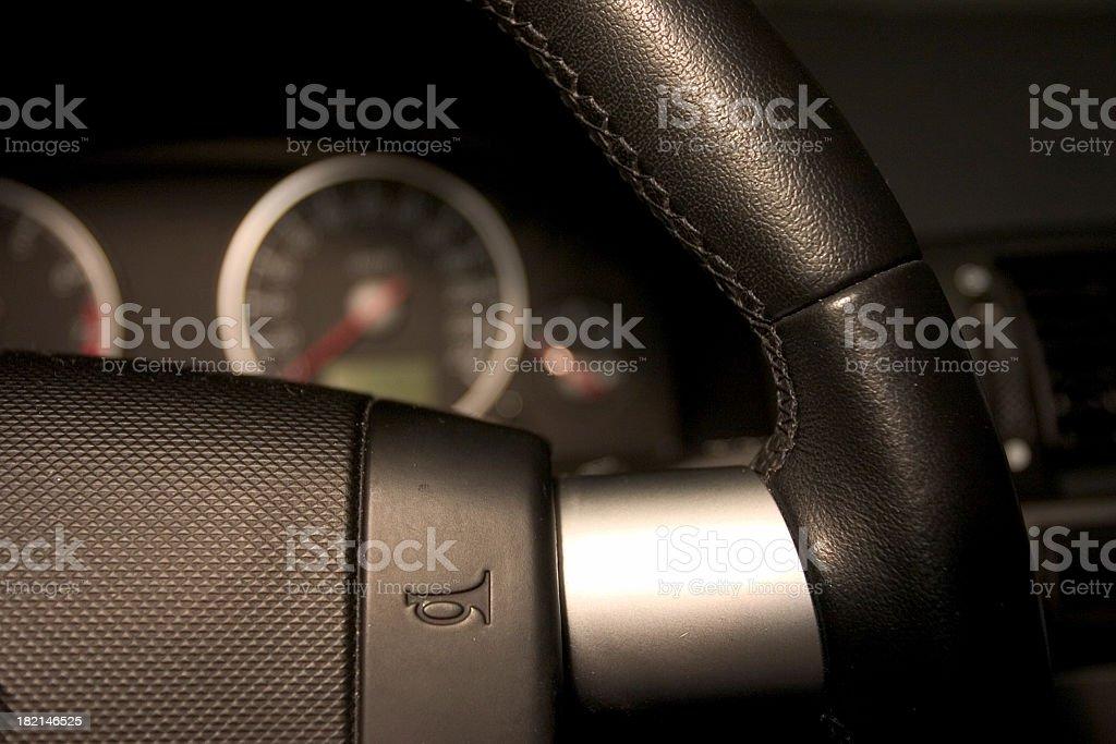 Interior of sport car stock photo