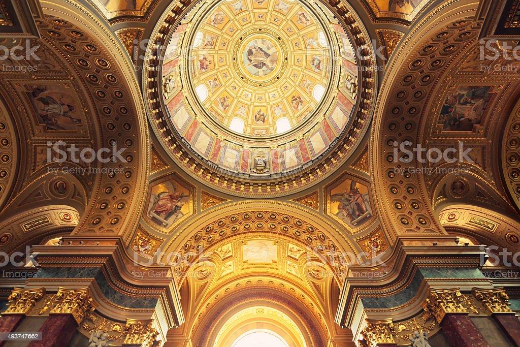 Interior of St Stephen's Basilica stock photo